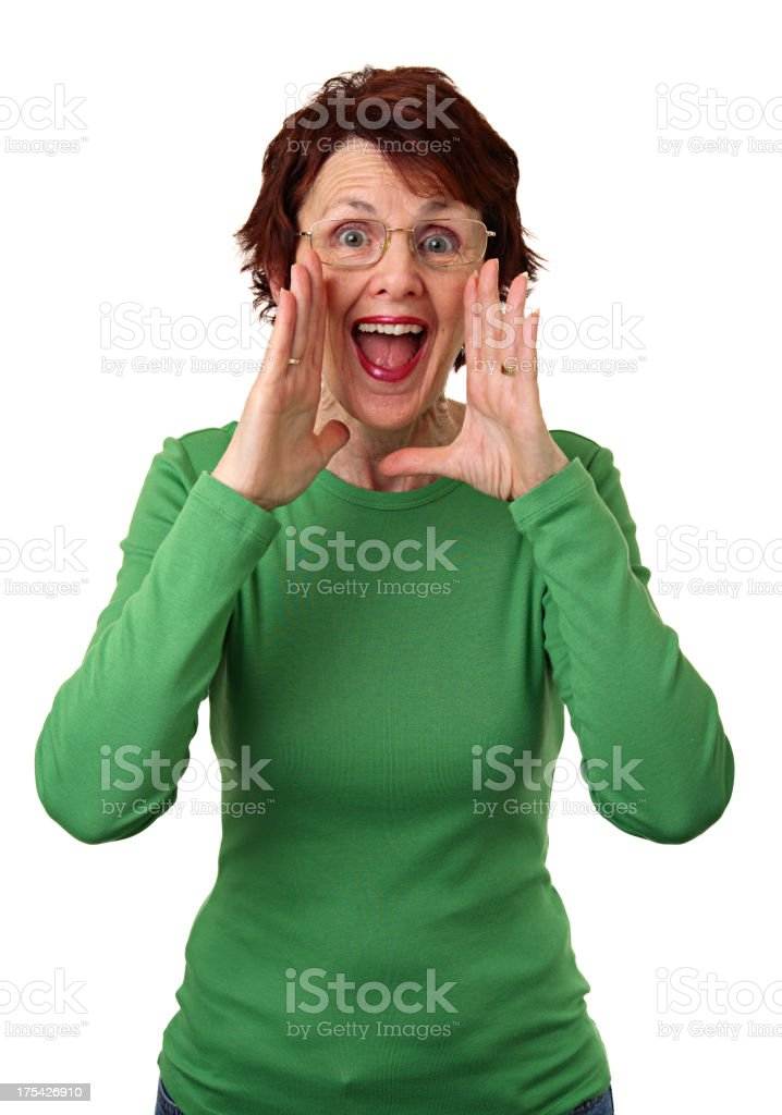 Calling Out stock photo