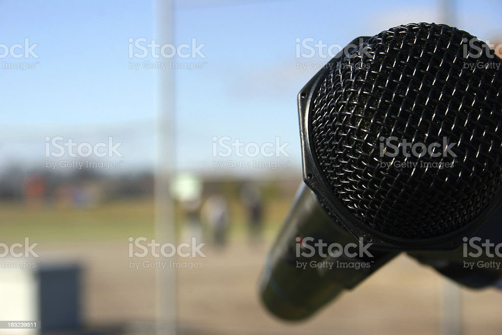 Calling the Game stock photo