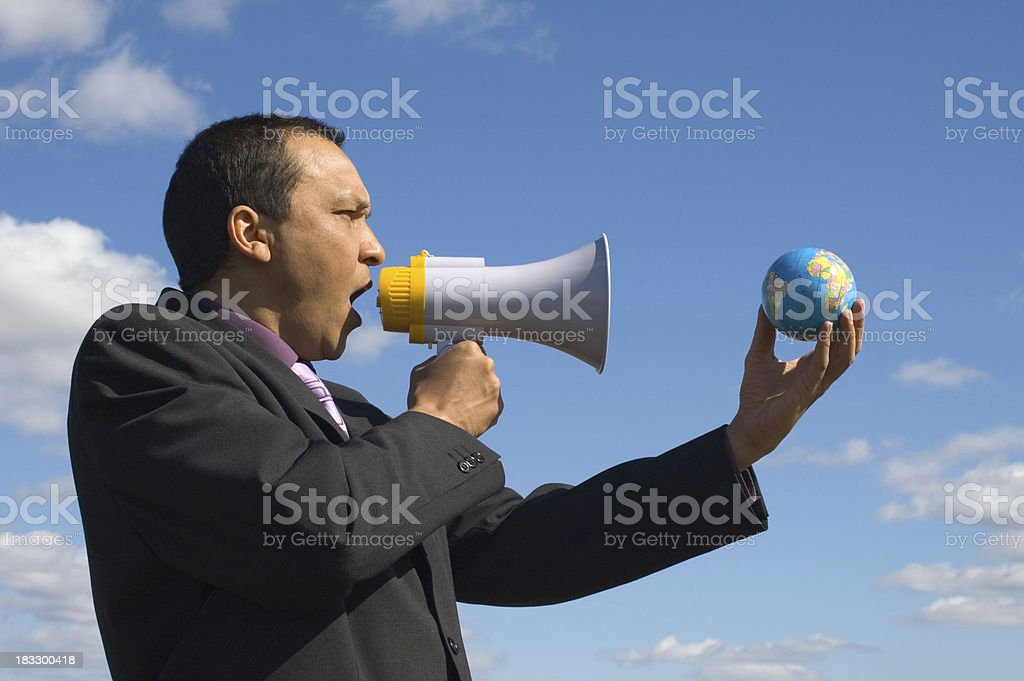 calling the world royalty-free stock photo