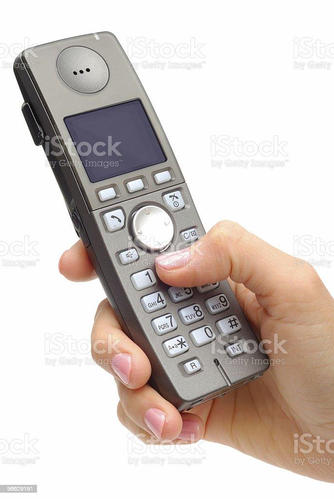 Calling To Someone stock photo