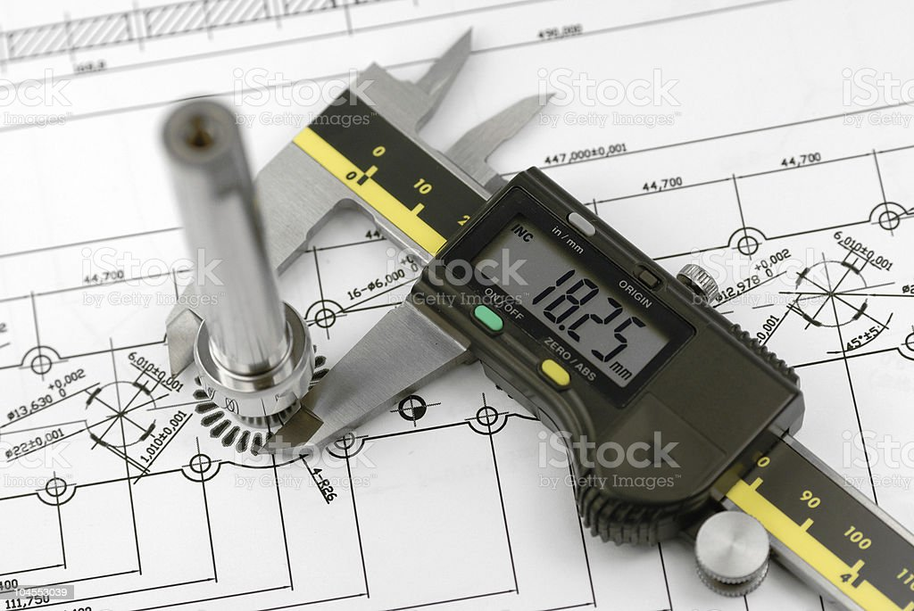 calliper measure a prat stock photo