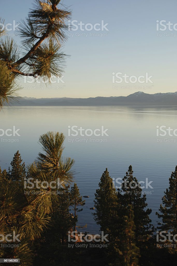 Calm Afternoon on Lake Tahoe royalty-free stock photo