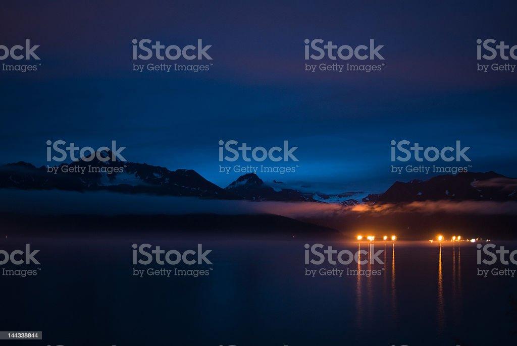Calm Alaskan Night royalty-free stock photo