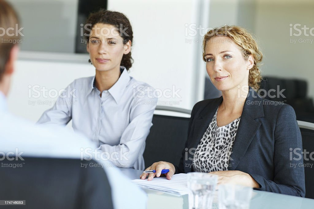 Calm and cool corporate composure royalty-free stock photo