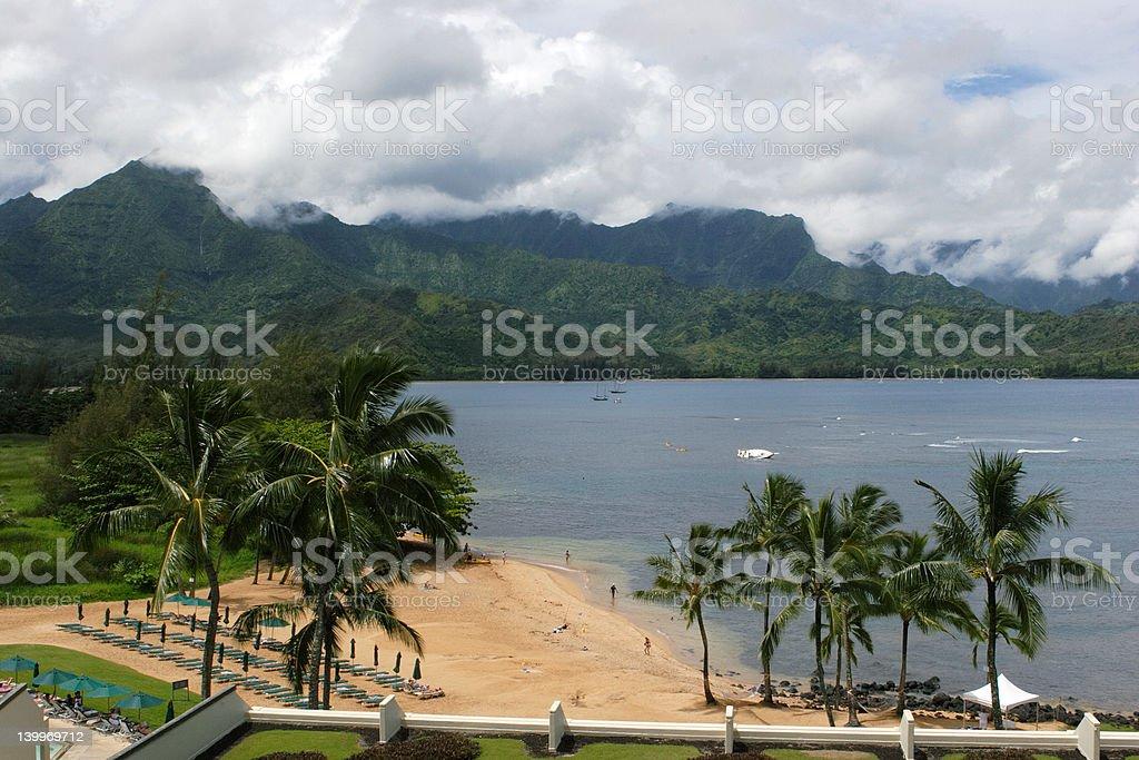 Calme bay à Kauai photo libre de droits