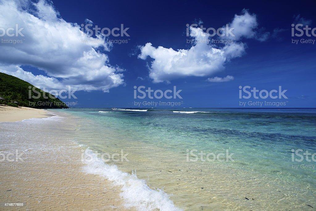 Calm beach in the Yasawa islands Fiji stock photo