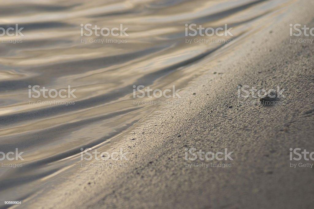 Calm beach royalty-free stock photo