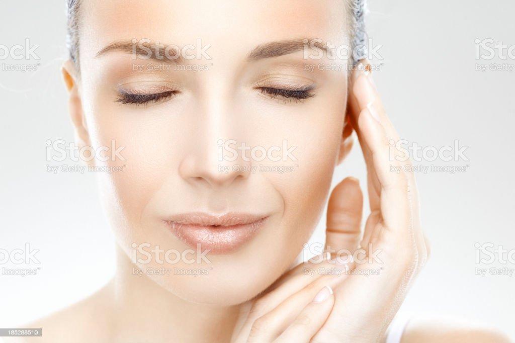 Calm beauty stock photo