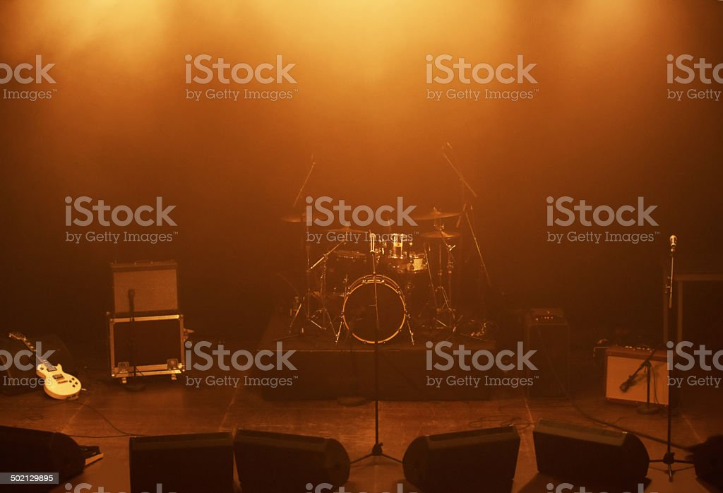 Calm before the musical storm stock photo