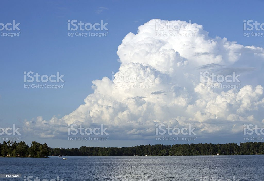 Calm Before the Storm on a Recreational Lake stock photo