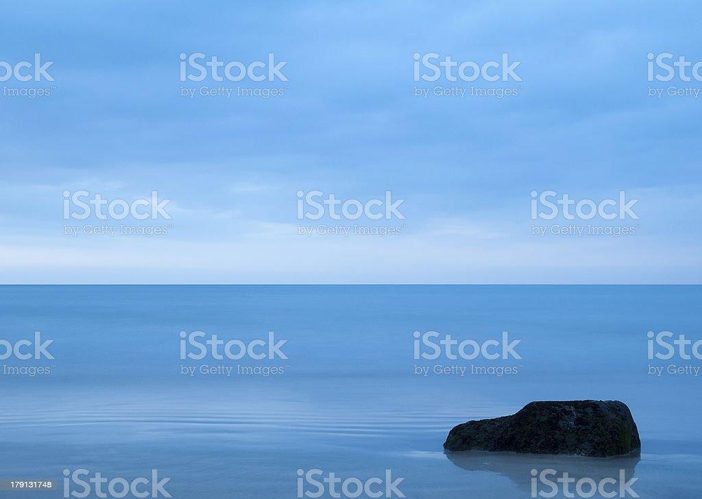 Calm blue sea royalty-free stock photo