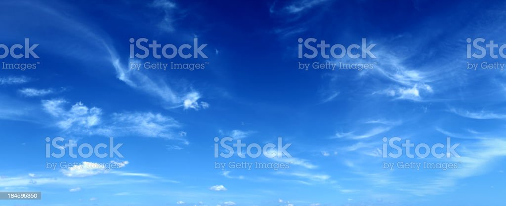 Calm Blue Sky - Panoramic XXXL Image royalty-free stock photo