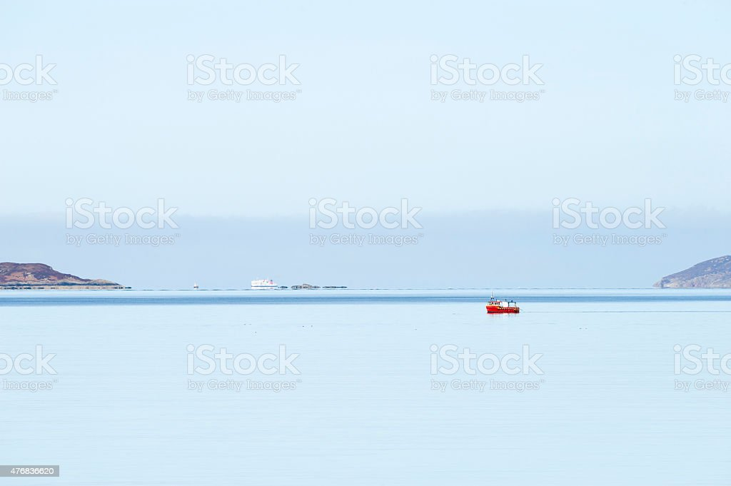 Calm Day At Sea stock photo