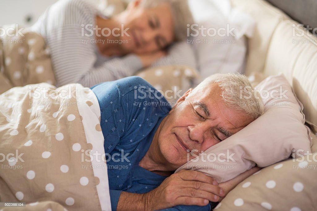 Calm dreaming in the bedroom stock photo