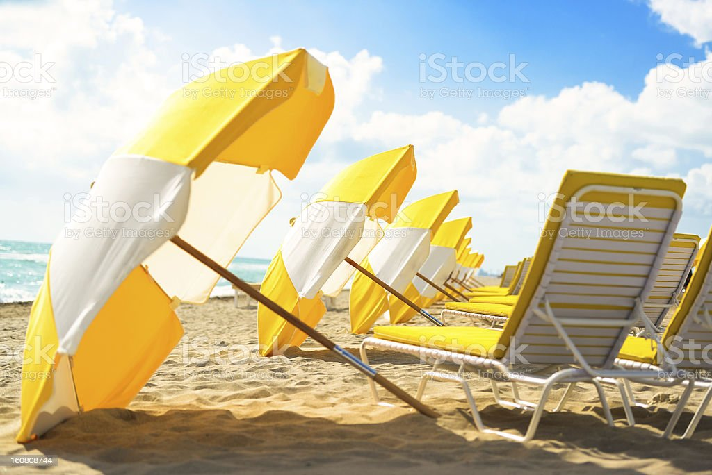 Calm empty Beach in the early morning royalty-free stock photo