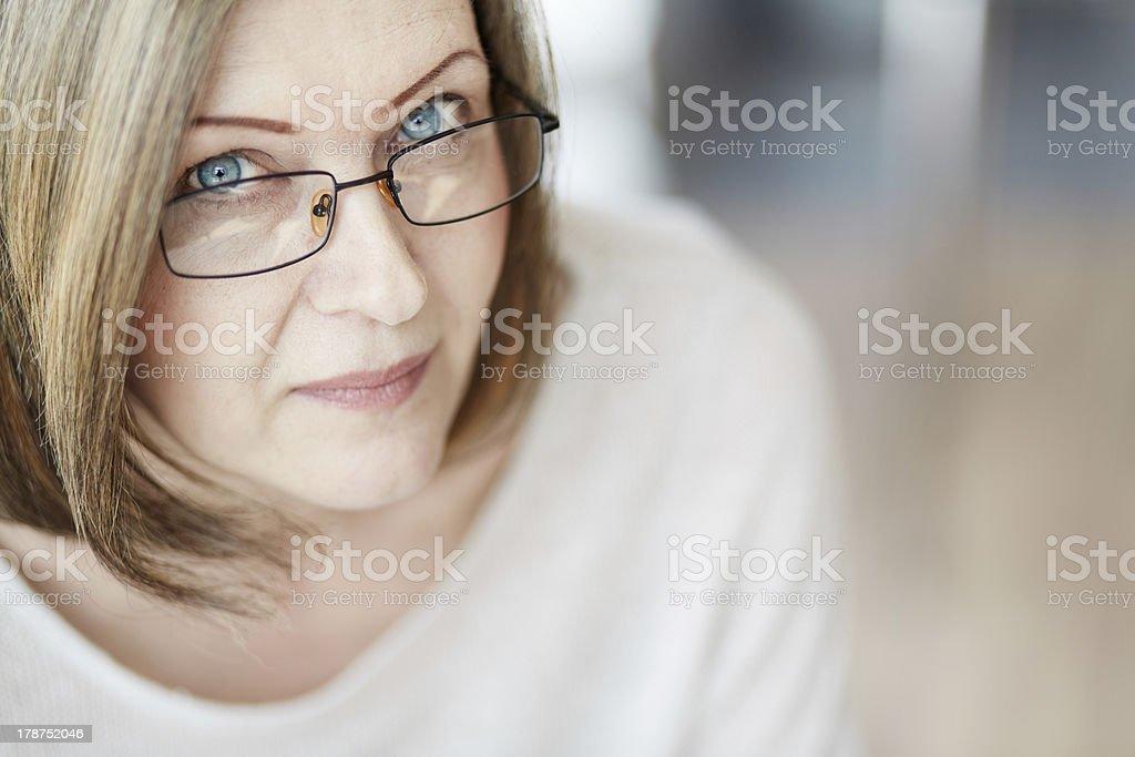 Calm female royalty-free stock photo