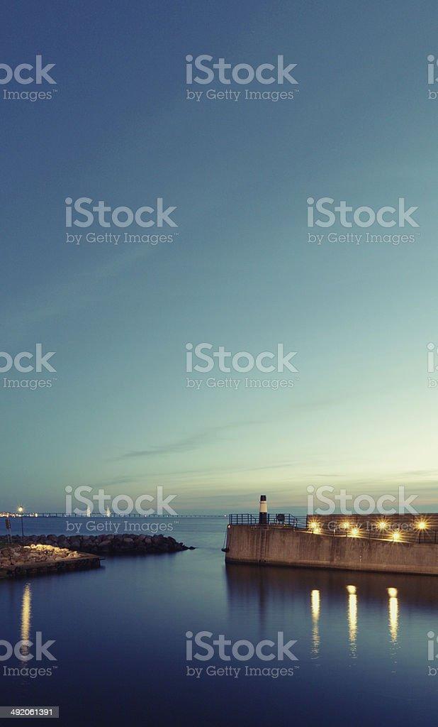 Calm harbour in Malmo stock photo
