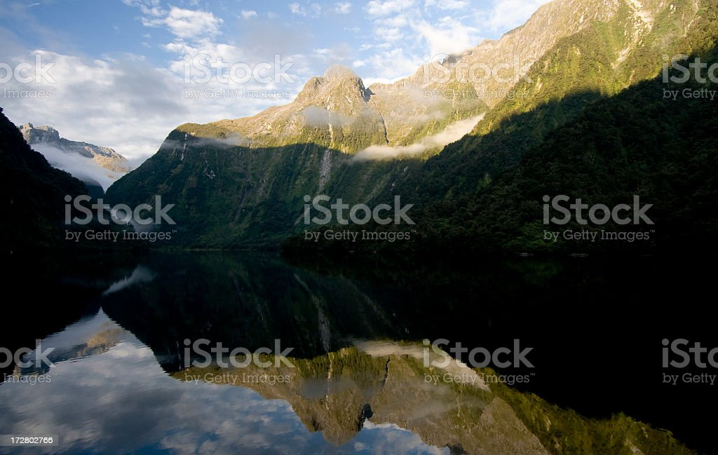 Calm in Doubtful Sound stock photo