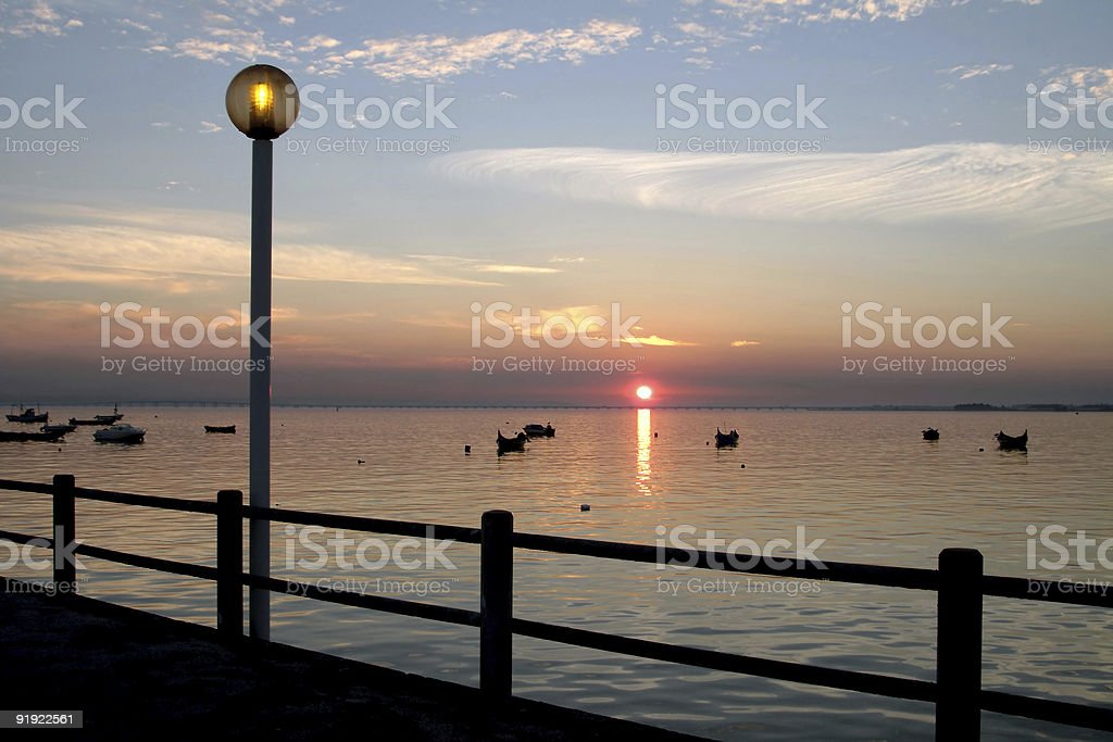 Calm in harbor royalty-free stock photo