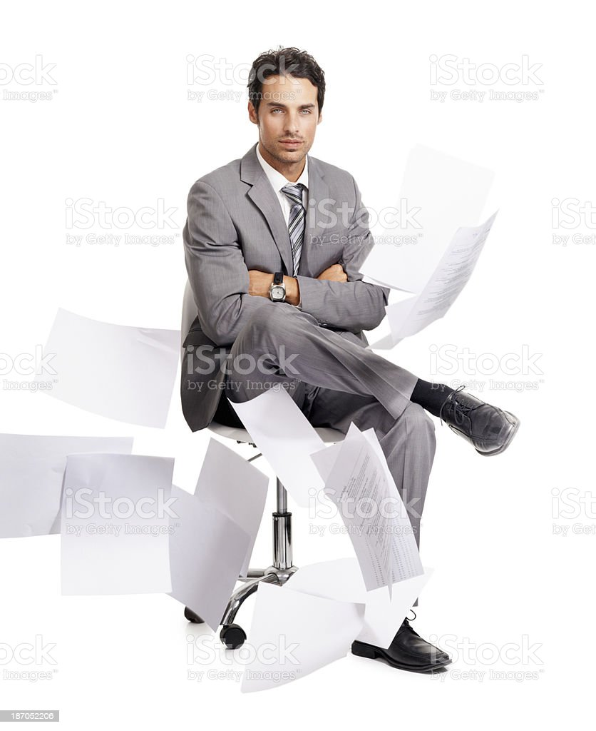 Calm in the chaos royalty-free stock photo