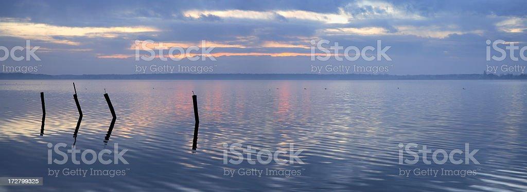 Calm Lake at Dawn royalty-free stock photo