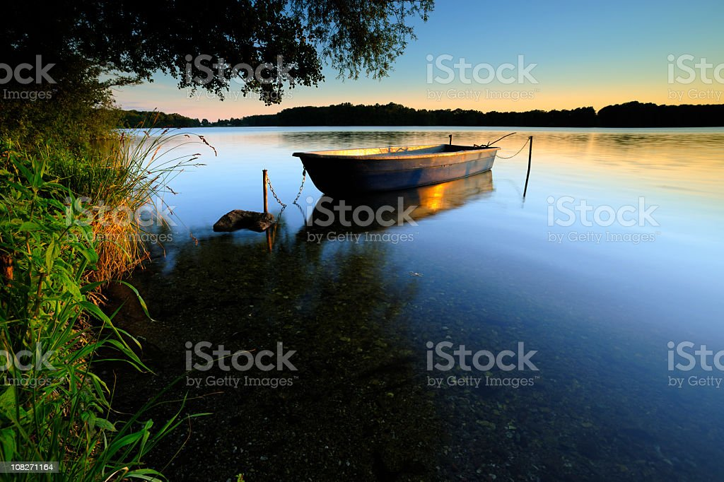 Calm Lake at Sunset royalty-free stock photo