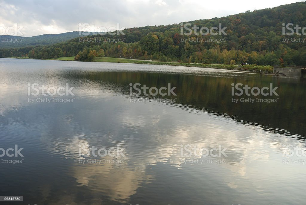 Calm Lake in Autumn royalty-free stock photo