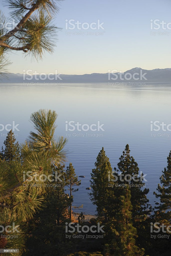 Calm Lake in the Late Afternoon royalty-free stock photo