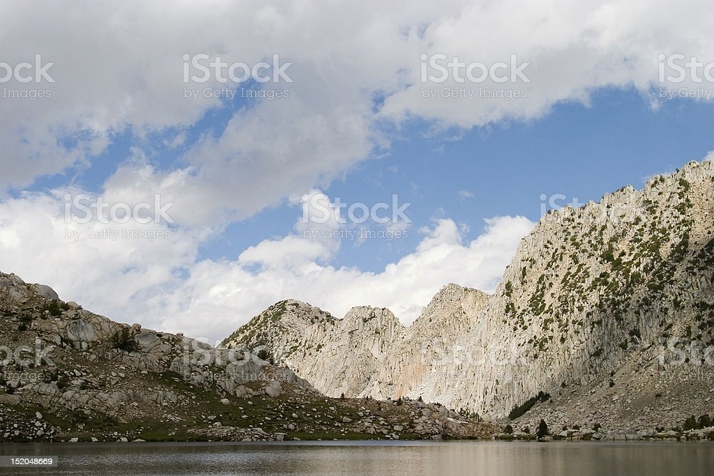 Calm Lake in the mountains stock photo