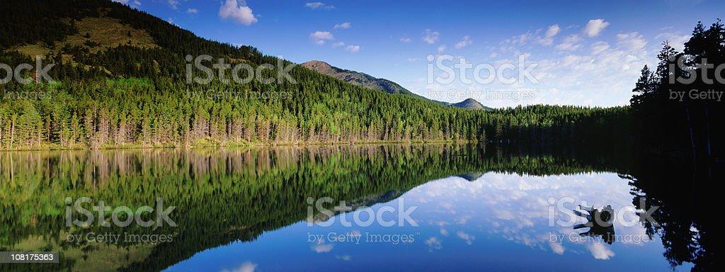 Calm mountain reflections royalty-free stock photo