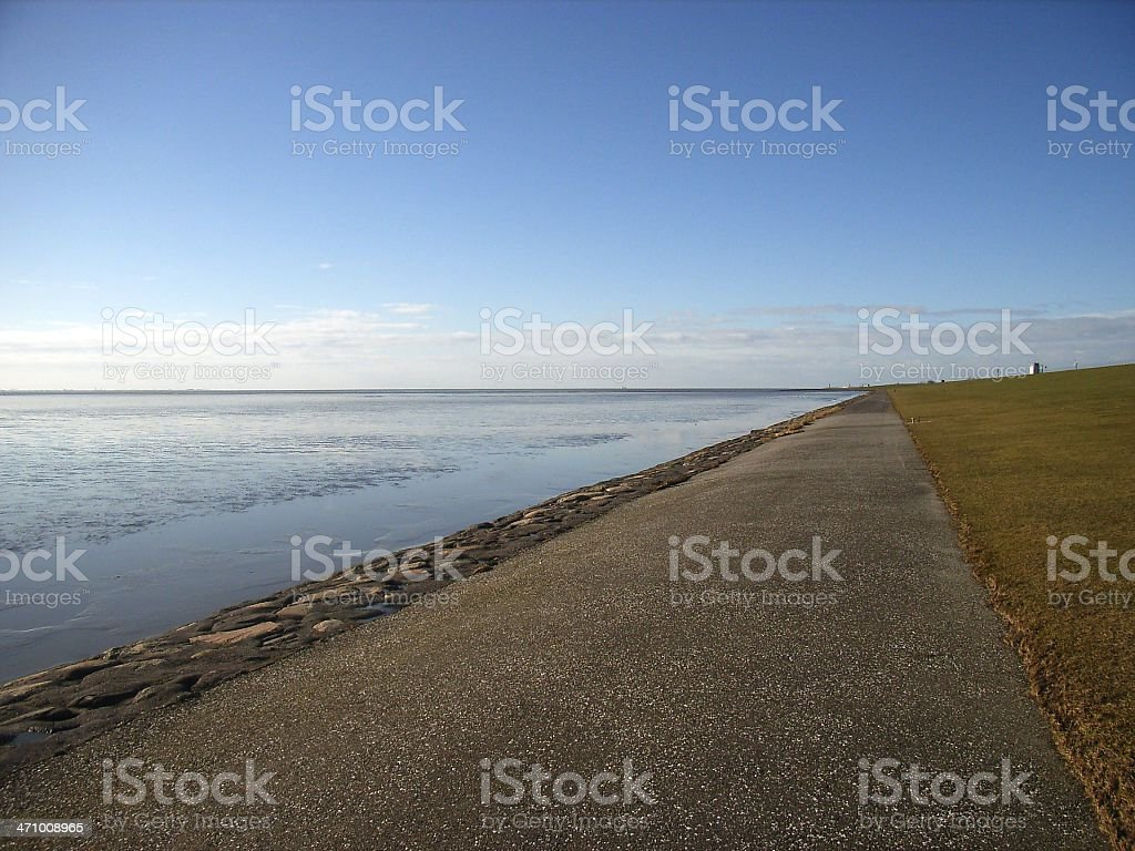Calm northsea in January royalty-free stock photo