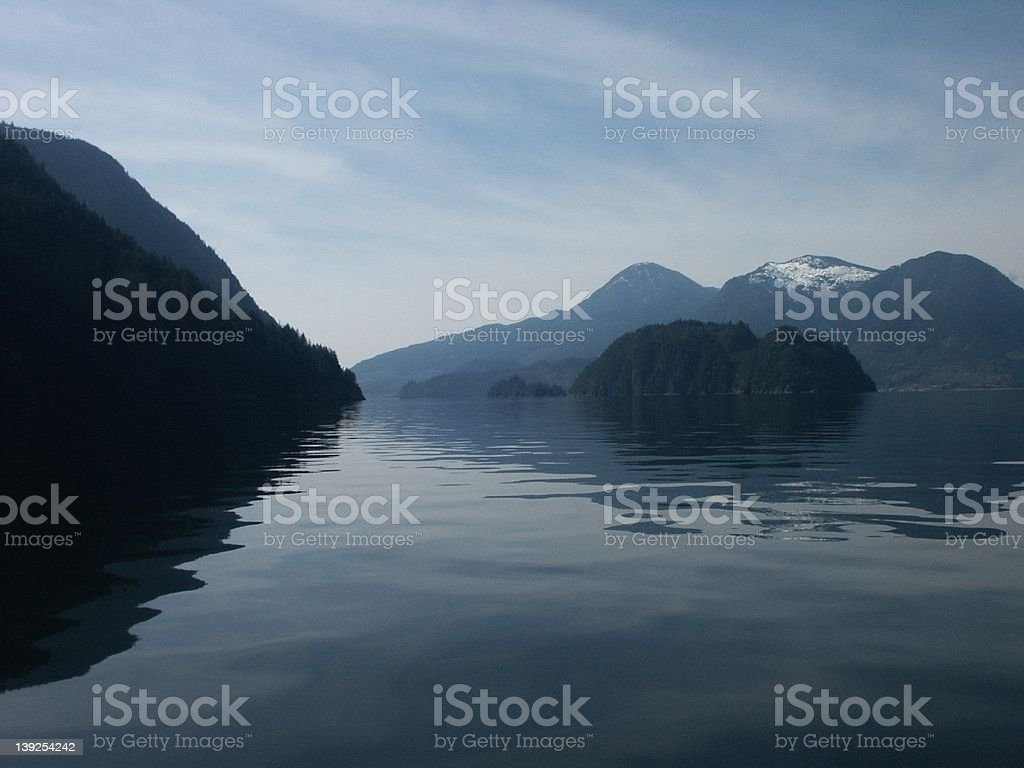 Calm Ocean and Islands royalty-free stock photo
