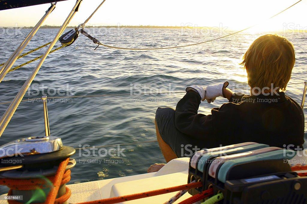Calm Ocean Sailor 5 stock photo