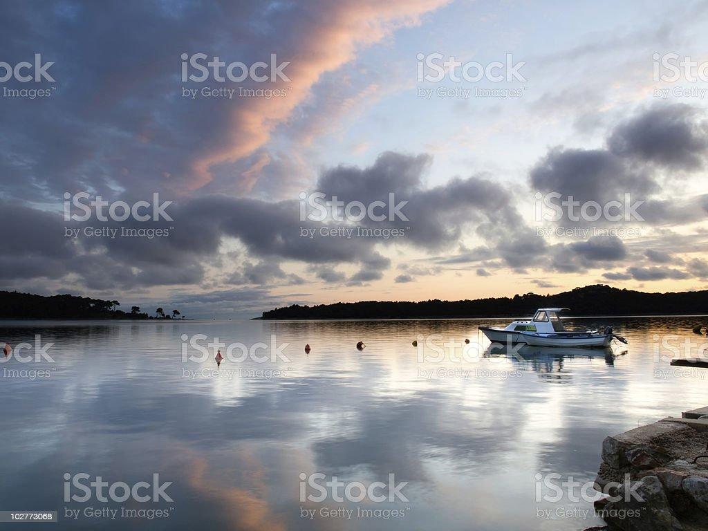 Calm port royalty-free stock photo