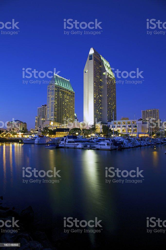 Calm San Diego night stock photo