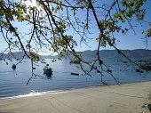 Calm sea in the morning, Rio de Janeiro, Brazil