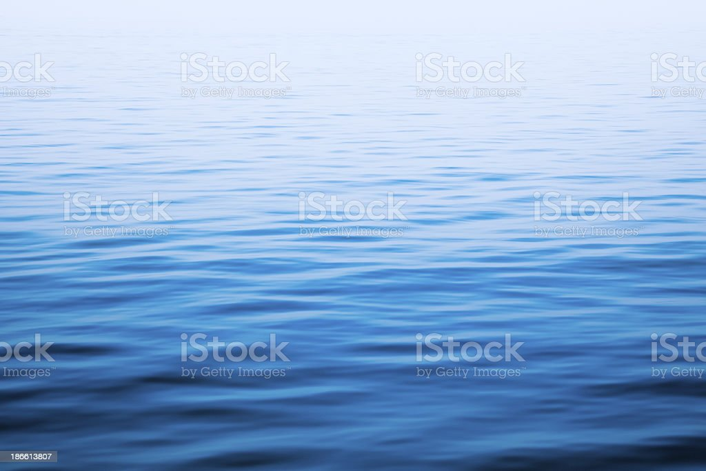 Calm sea picture showing different shades of blue stock photo
