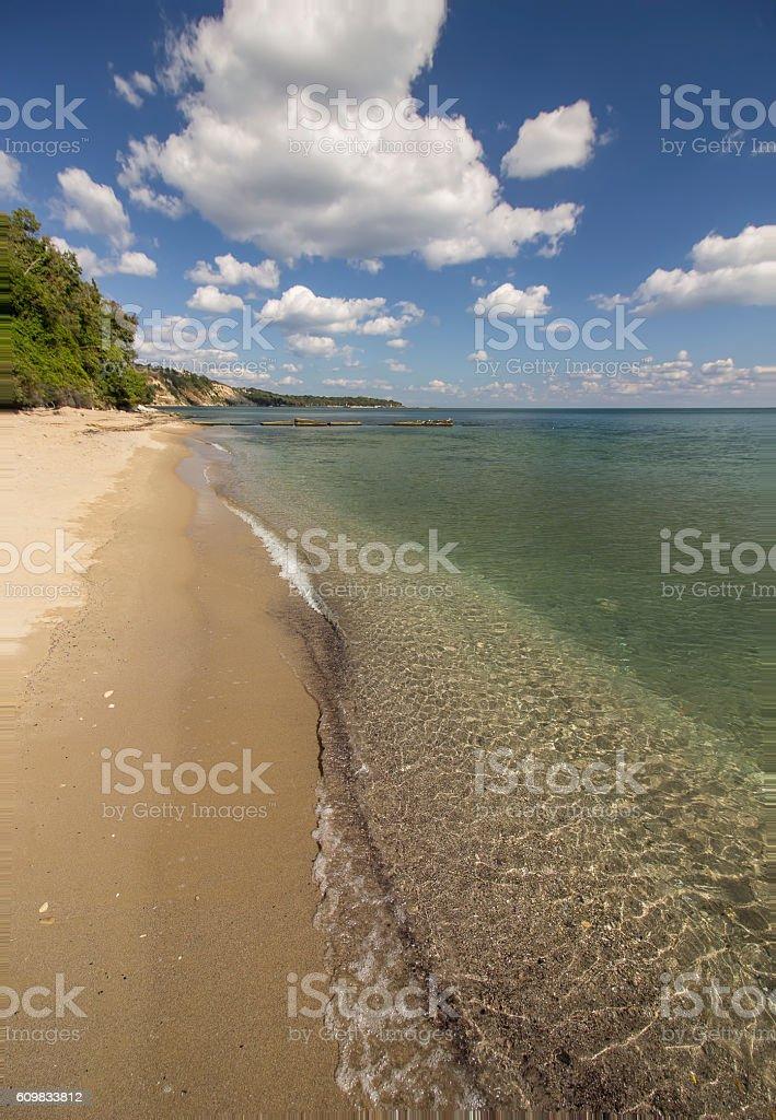 calm sea waves stock photo