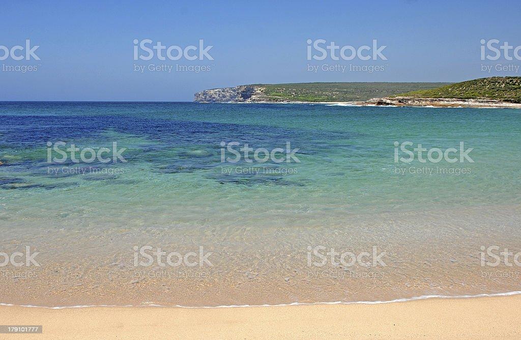 Calm Summer Beach, Sydney,  Australia royalty-free stock photo