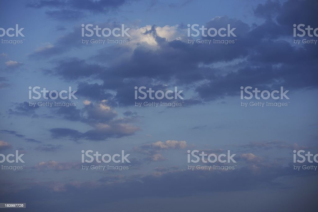 Calm Sunset Sky royalty-free stock photo