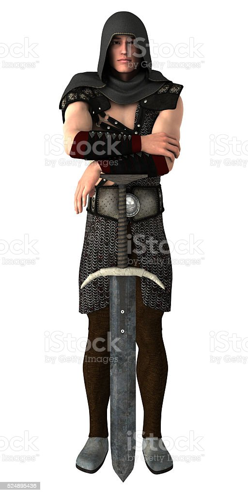 Calm Sword Guard stock photo