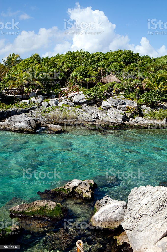 Calm Tropical Lagoon stock photo