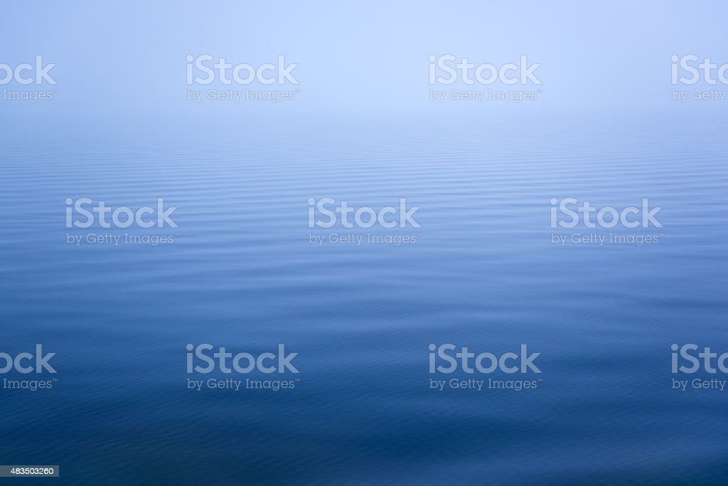 Calm Wave Texture Background - Deep Blue stock photo