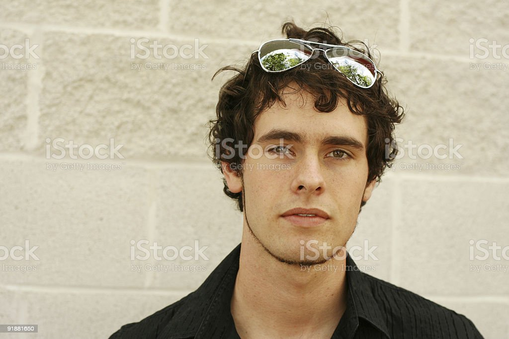 Calm Young Man Portrait stock photo