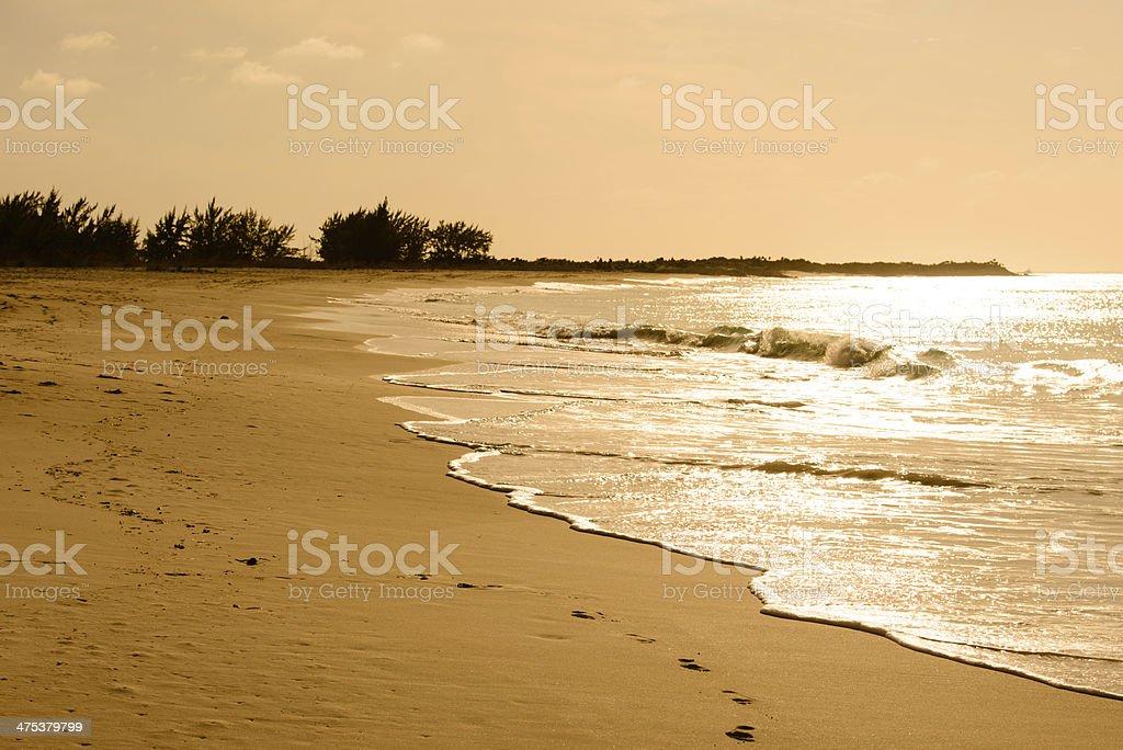 Calming Beach - Horizontal royalty-free stock photo