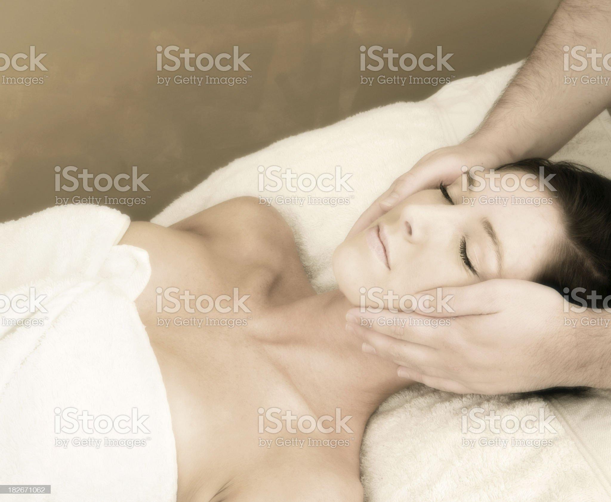 Calming Facial royalty-free stock photo