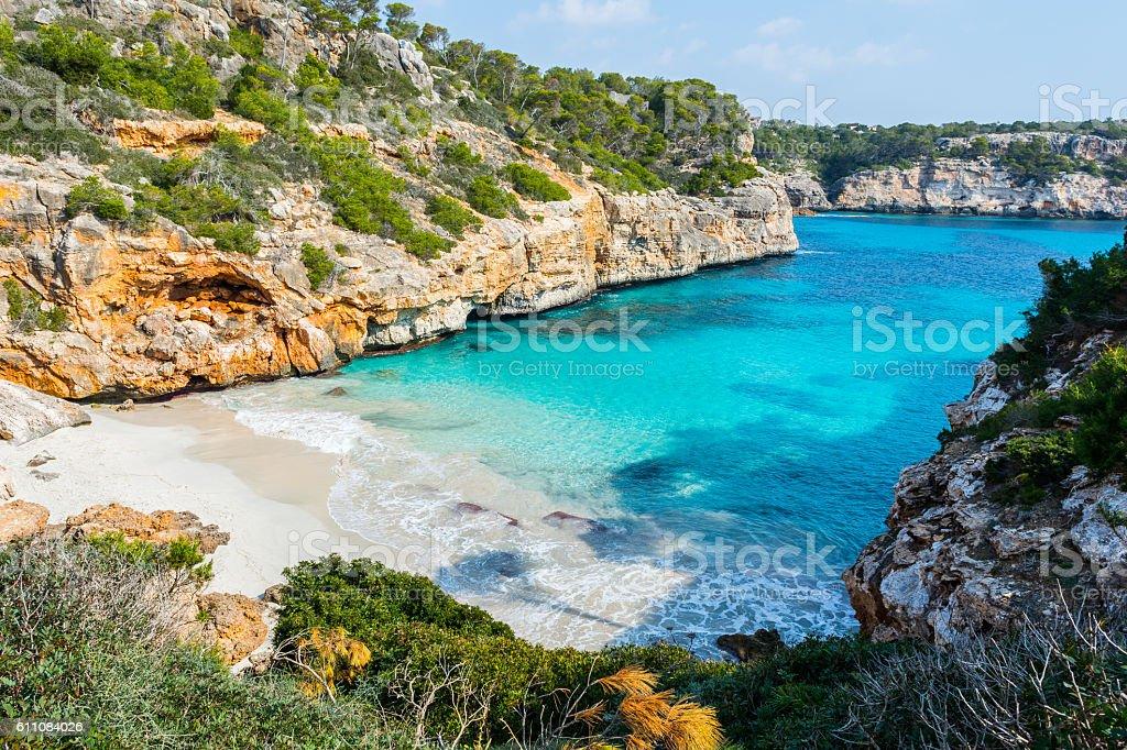Calo des Moro, Majorca stock photo
