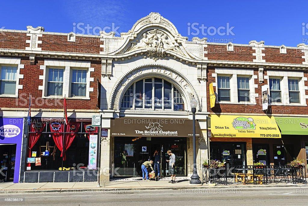 Calo Theatre Building  in Andersonville,  Chicago stock photo