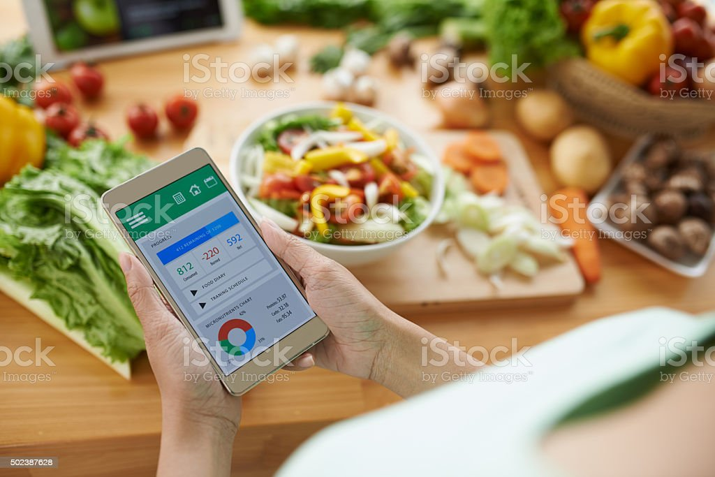 Calorie counter stock photo