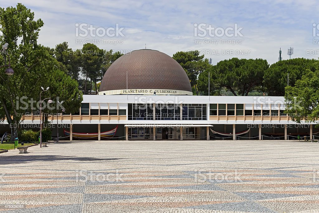 Calouste Gulbenkian Planetarium in Belem, Lisbon stock photo